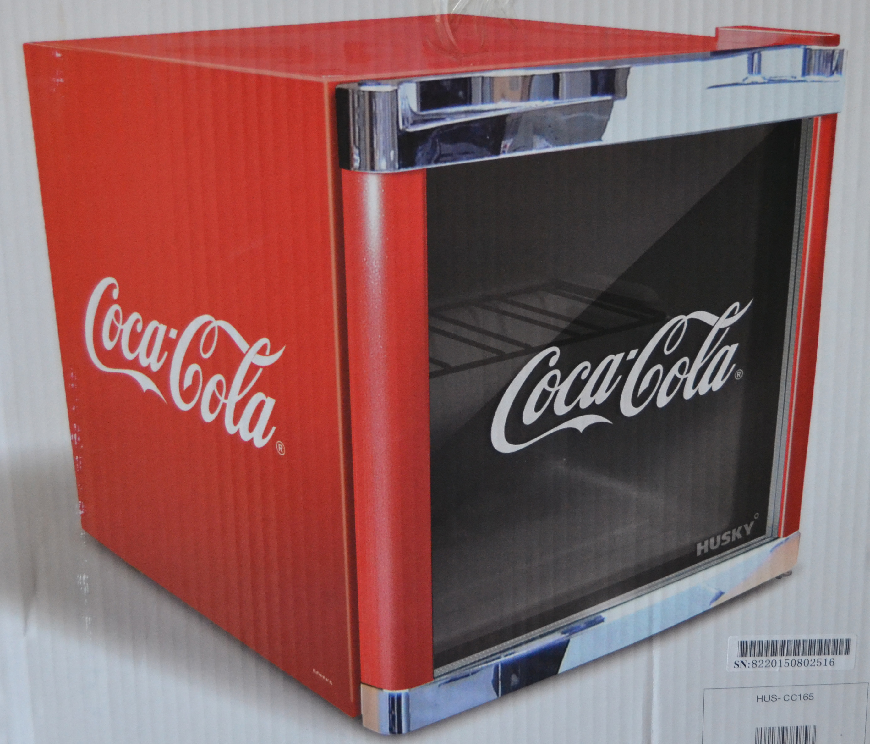 husky coolcube cool cube k hlschrank coca cola design neu b ware bholur ebay. Black Bedroom Furniture Sets. Home Design Ideas