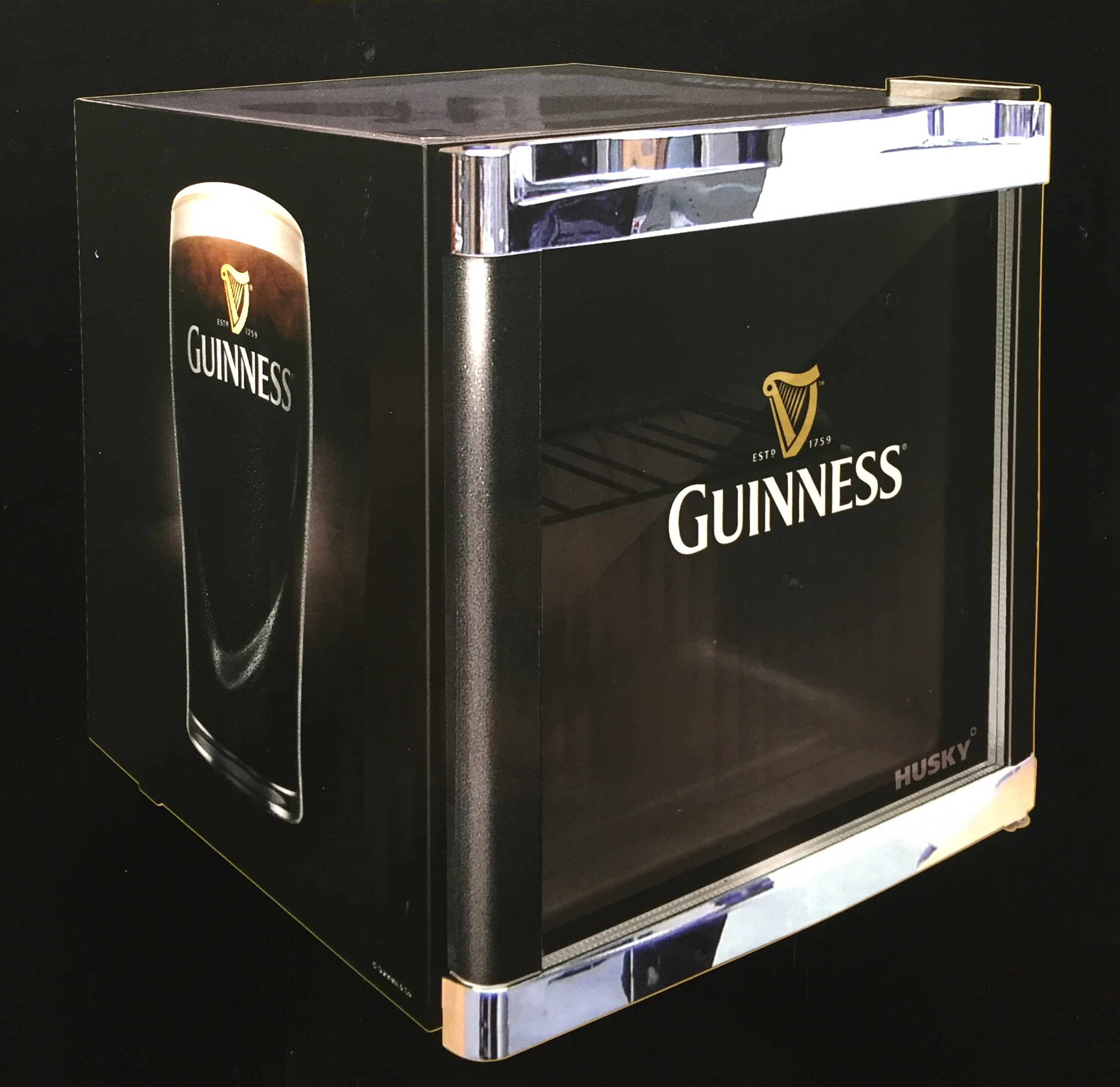 husky coolcube cool cube k hlschrank guinness design guiness a neu ebay. Black Bedroom Furniture Sets. Home Design Ideas