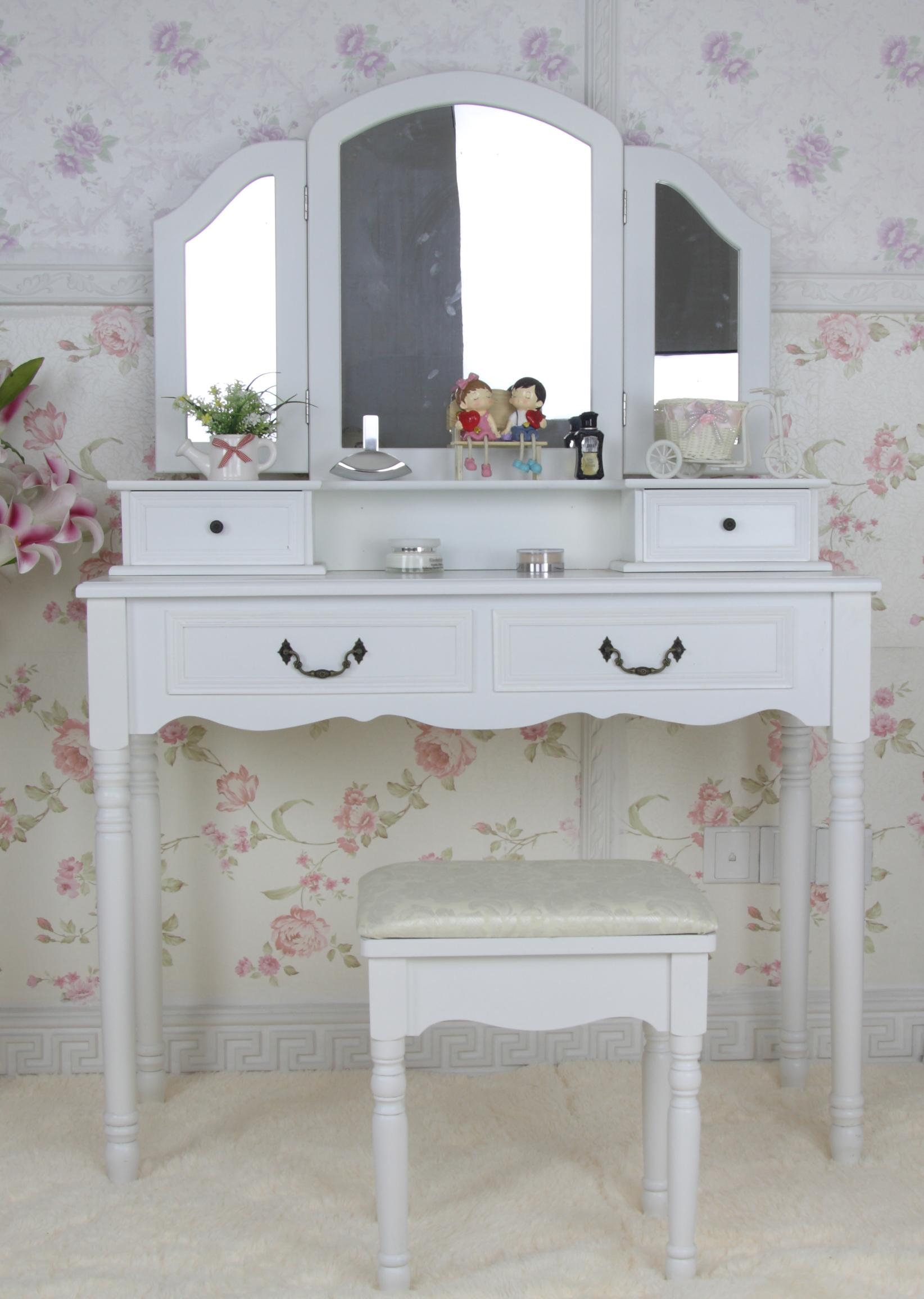 schminktisch inkl hocker frisierkommode frisiertisch spiegel kosmetiktisch 1a ebay. Black Bedroom Furniture Sets. Home Design Ideas