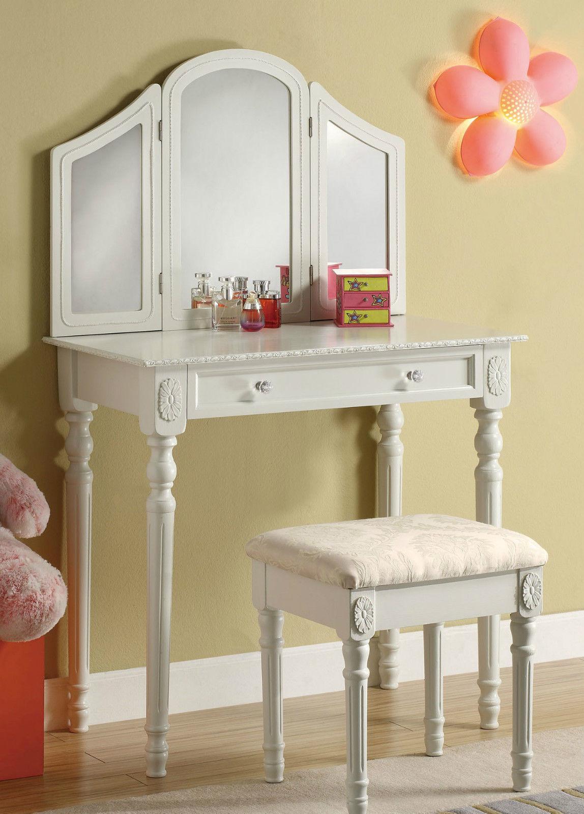 schminktisch kosmetiktisch inkl hocker spiegel frisierkommode frisiertisch lh ebay. Black Bedroom Furniture Sets. Home Design Ideas
