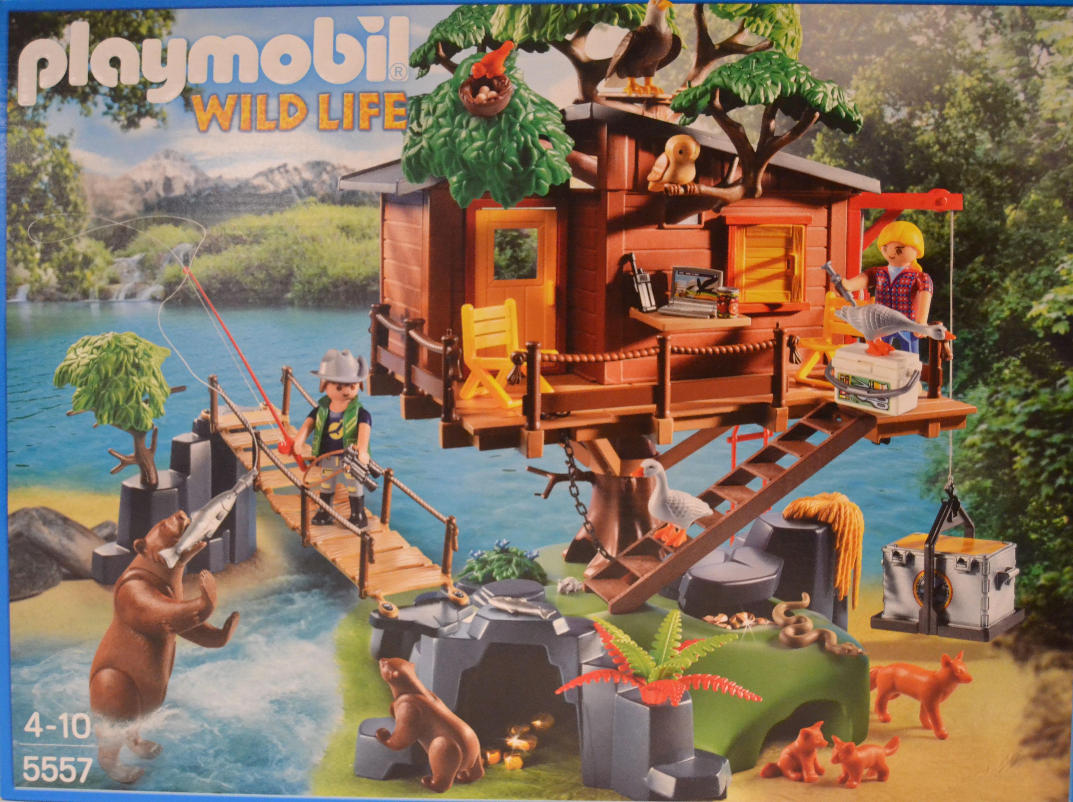 Playmobil vida salvaje 5557 aventura casa de rbol con figuras ebay - Casa del arbol de aventuras playmobil ...