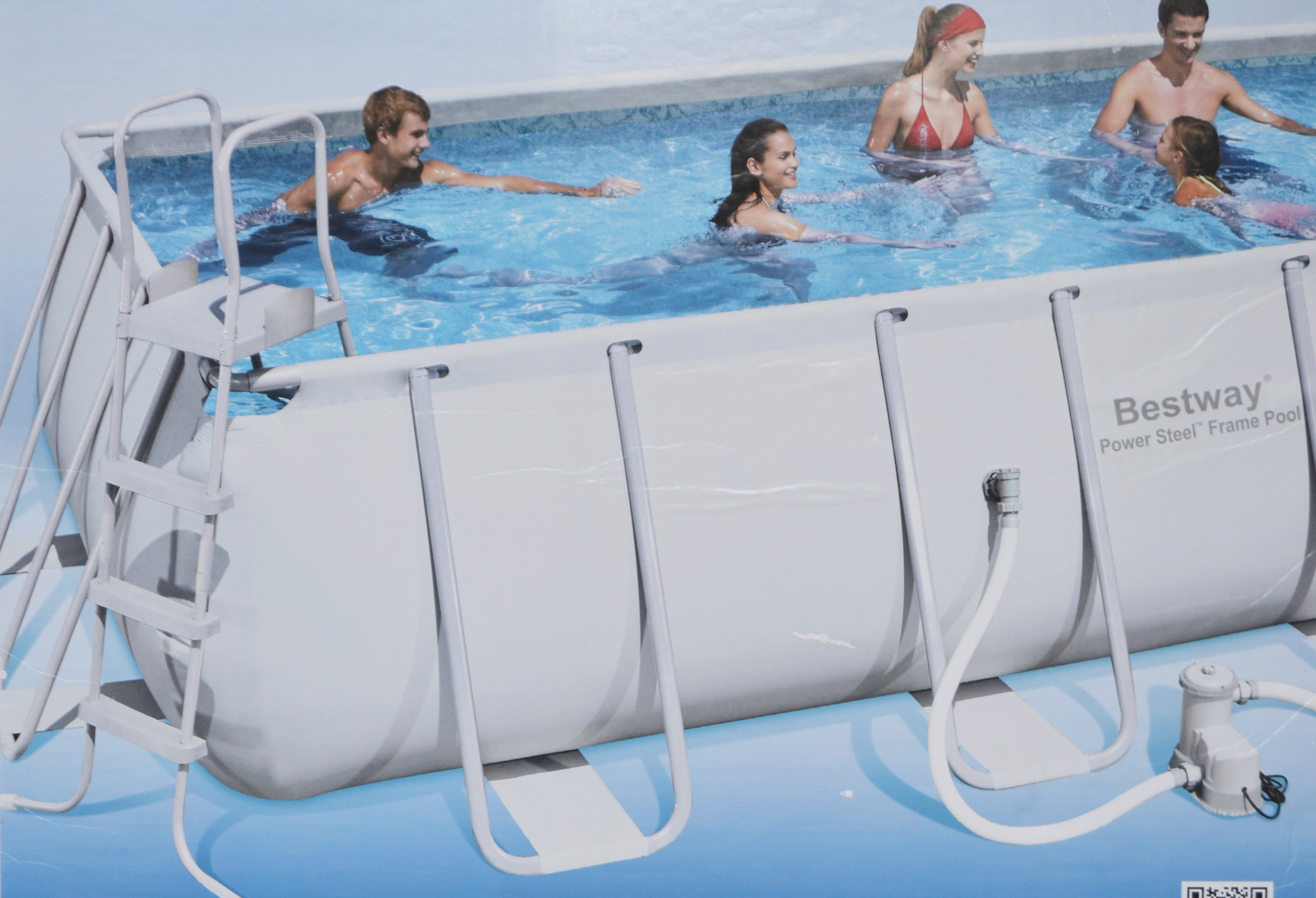 Bestway swimmingpool 56223 gs schwimmbad 549x274x122cm for Bestway pool folie