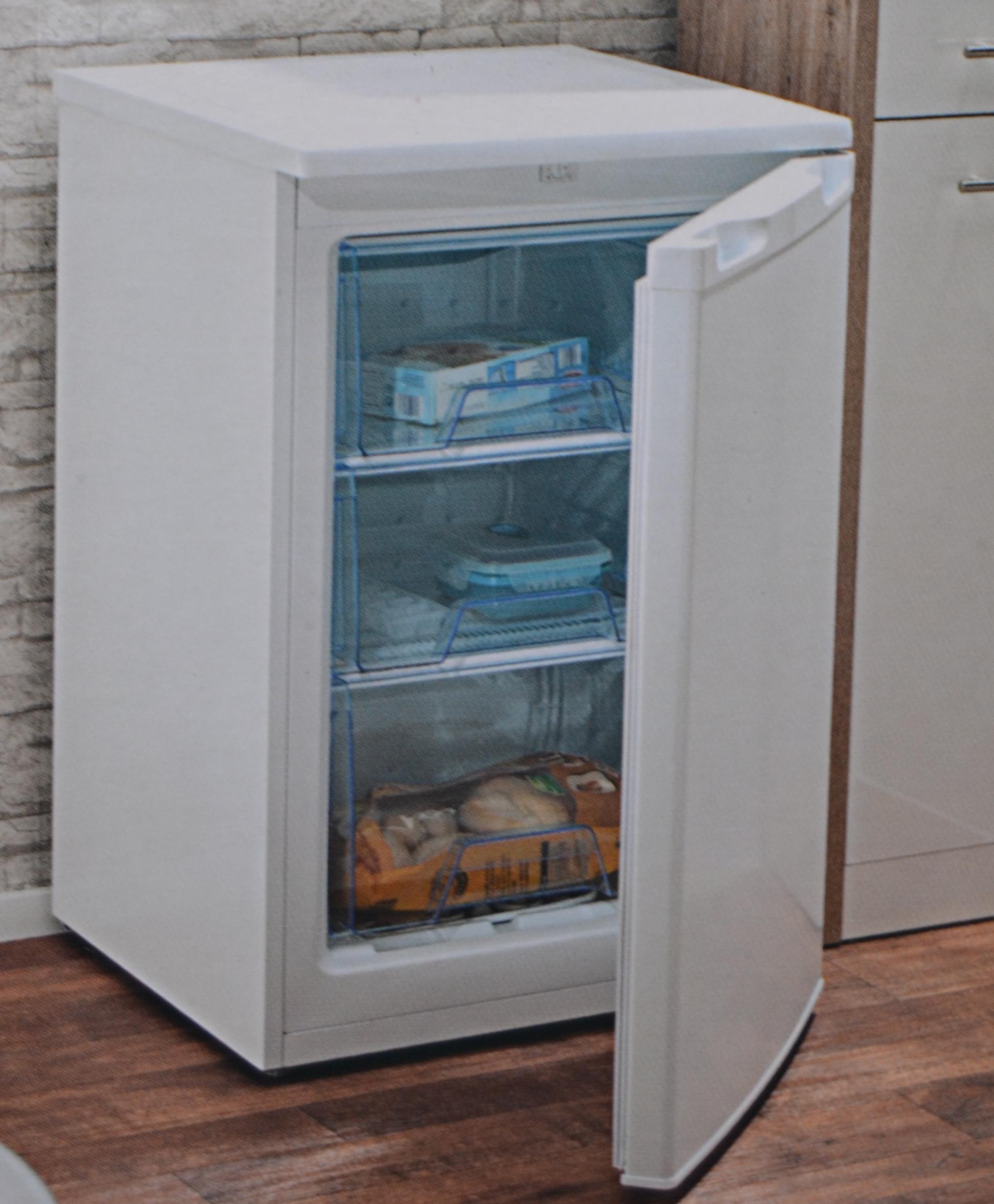 tiefk hlschrank gefrierschrank gefriertruhe 86 liter 85cm hoch eek a wei ebay. Black Bedroom Furniture Sets. Home Design Ideas